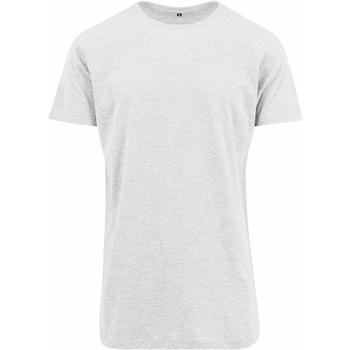 Textiel Heren T-shirts korte mouwen Build Your Brand Shaped Wit