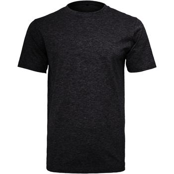 Textiel Heren T-shirts korte mouwen Build Your Brand Round Neck Zwart