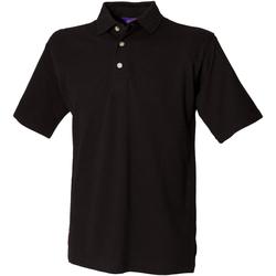 Textiel Heren Polo's korte mouwen Henbury HB100 Zwart