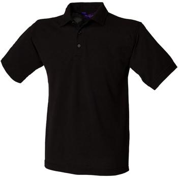 Textiel Heren Polo's korte mouwen Henbury HB400 Zwart
