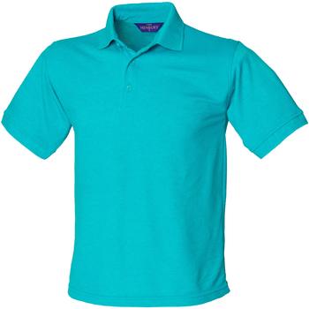 Textiel Heren Polo's korte mouwen Henbury HB400 Turquoise