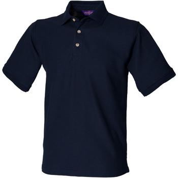 Textiel Heren Polo's korte mouwen Henbury HB410 Marine