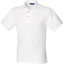 Textiel Heren Polo's korte mouwen Henbury HB410 Wit