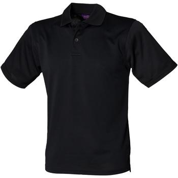 Textiel Heren Polo's korte mouwen Henbury HB475 Zwart