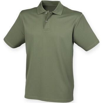 Textiel Heren Polo's korte mouwen Henbury HB475 Olijf