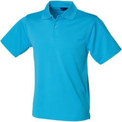 Textiel Heren Polo's korte mouwen Henbury HB475 Turquoise