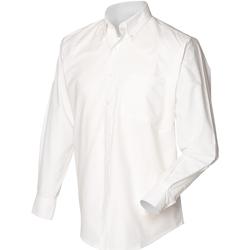 Textiel Heren Overhemden lange mouwen Henbury HB510 Wit