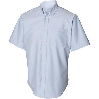 Textiel Heren Overhemden korte mouwen Henbury HB515 Blauw