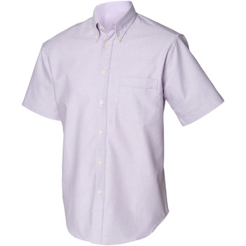 Textiel Heren Overhemden korte mouwen Henbury HB515 Lila