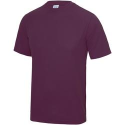Textiel Heren T-shirts korte mouwen Awdis JC001 Pruim
