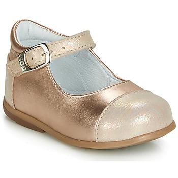 Schoenen Meisjes Ballerina's GBB BELISTO Roze / Goud