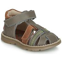 Schoenen Jongens Sandalen / Open schoenen GBB SEVILLOU Grijs / Bruin