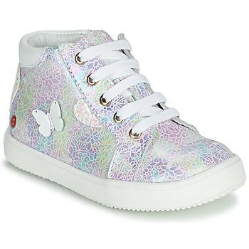 Schoenen Meisjes Hoge sneakers GBB MEFITA Zilver / Roze
