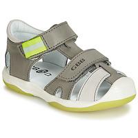 Schoenen Jongens Sandalen / Open schoenen GBB BERTO Grijs