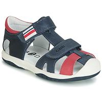 Schoenen Jongens Sandalen / Open schoenen GBB BERTO Marine / Rood
