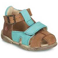 Schoenen Jongens Sandalen / Open schoenen GBB SEROLO Bruin / Blauw