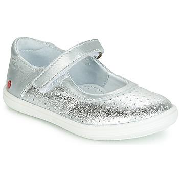 Schoenen Meisjes Ballerina's GBB PLACIDA Zilver