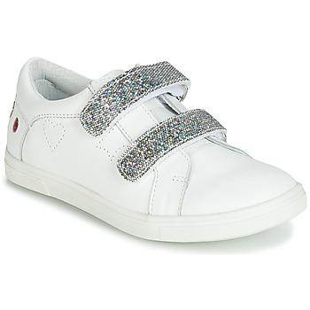 Schoenen Meisjes Lage sneakers GBB BALOTA Wit / Zilver