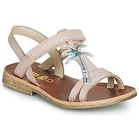 Schoenen Meisjes Sandalen / Open schoenen GBB SAPELA Roze / Zilver