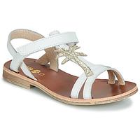 Schoenen Meisjes Sandalen / Open schoenen GBB SAPELA Wit / Goud