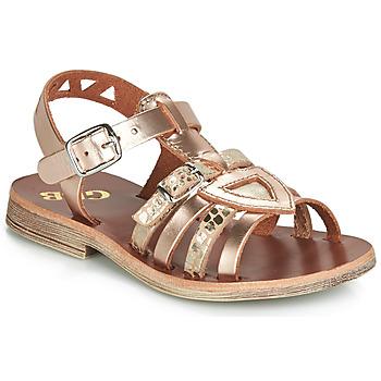 Schoenen Meisjes Sandalen / Open schoenen GBB FANNI Roze / Goud / Goud