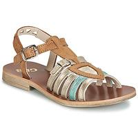 Schoenen Meisjes Sandalen / Open schoenen GBB FANNI Bruin / Goud