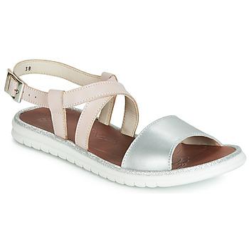 Schoenen Meisjes Sandalen / Open schoenen GBB ADRIANA Roze / Zilver