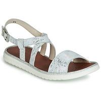 Schoenen Meisjes Sandalen / Open schoenen GBB ADRIANA Wit / Zilver