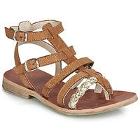 Schoenen Meisjes Sandalen / Open schoenen GBB NOVARA Cognac / Goud