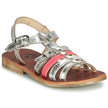 Schoenen Meisjes Sandalen / Open schoenen GBB BANGKOK Zilver / Roze