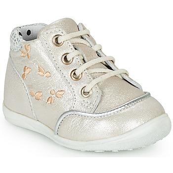 Schoenen Meisjes Hoge sneakers Catimini BALI Vte /  beige-argent / Dpf / Gluck