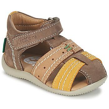 Schoenen Jongens Sandalen / Open schoenen Kickers BIGBAZAR Bruin / Beige / Geel