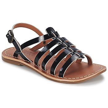 Schoenen Meisjes Sandalen / Open schoenen Kickers DIXMILLION Zwart / Lak