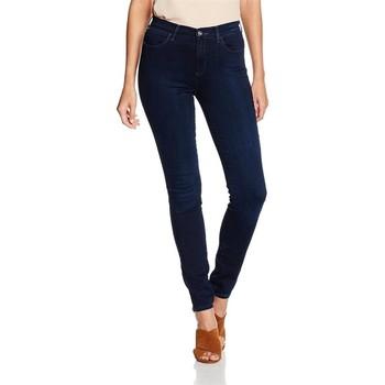Textiel Dames Skinny Jeans Wrangler High Skinny W27HBV78Z navy