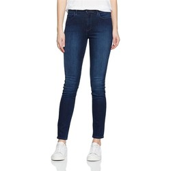 Textiel Dames Skinny Jeans Wrangler High Rise Skinny Subtle Blue W27HX786N navy