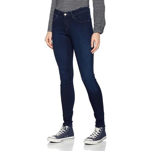 Textiel Dames Skinny Jeans Wrangler Super Skinny True Beauty W29JBV94Z navy