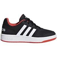 Schoenen Kinderen Lage sneakers adidas Originals Hoops 20 K Zwart