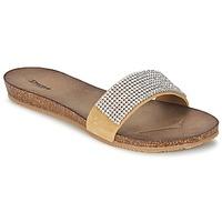 Schoenen Dames Leren slippers Dune JLINGS Nude