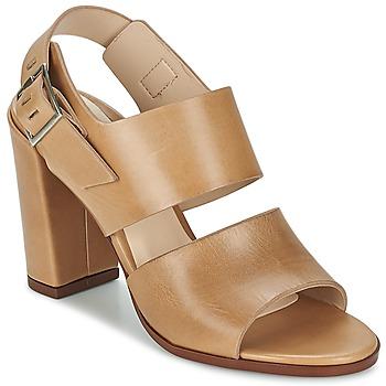 Schoenen Dames Sandalen / Open schoenen Dune London CUPPED BLOCK HEEL SANDAL Beige