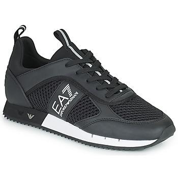 Schoenen Lage sneakers Emporio Armani EA7 LACES U Zwart