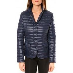 Textiel Dames Jacks / Blazers De Fil En Aiguille Doudoune Victoria & Karl 15326-C Bleu Blauw