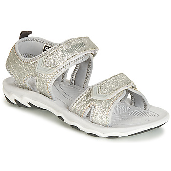 Schoenen Meisjes Sandalen / Open schoenen Hummel SANDAL GLITTER JR Zilver