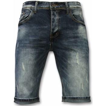 Textiel Heren Korte broeken / Bermuda's True Rise Basic Korte Broek - New Damaged - Blauw