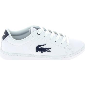 Schoenen Kinderen Lage sneakers Lacoste Carnaby Evo C Blanc Bleu Wit