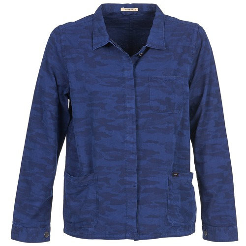Textiel Dames Jasjes / Blazers Lee CAMO Blauw