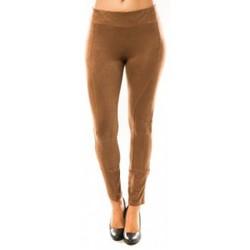 Textiel Dames Leggings Sweet Company Pantalon Décontract Taupe Bruin