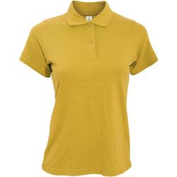 Textiel Dames Polo's korte mouwen B And C PW455 Goud