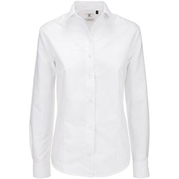 Textiel Dames Overhemden B And C SWO03 Wit