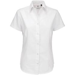 Textiel Dames Overhemden B And C SWO04 Wit