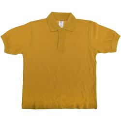 Textiel Kinderen Polo's korte mouwen B And C PK486 Goud
